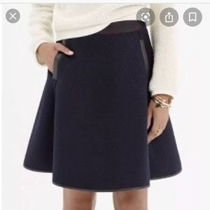 Navy & Black Madewell Quilted Skater Skirt